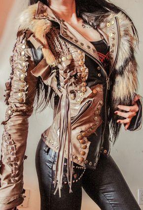 Image of TOXIC VISION Spirit Warrior leather jacket