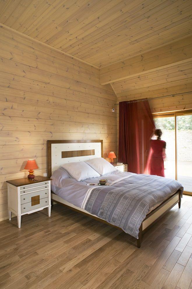 Honka Blockhaus Modell Esquibien Schlafzimmer