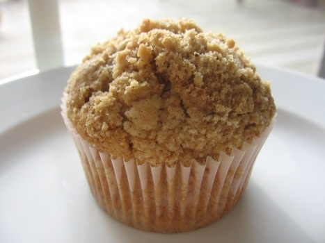 Sour Cream Cinnamon Streusel Muffins with Pecan Filling