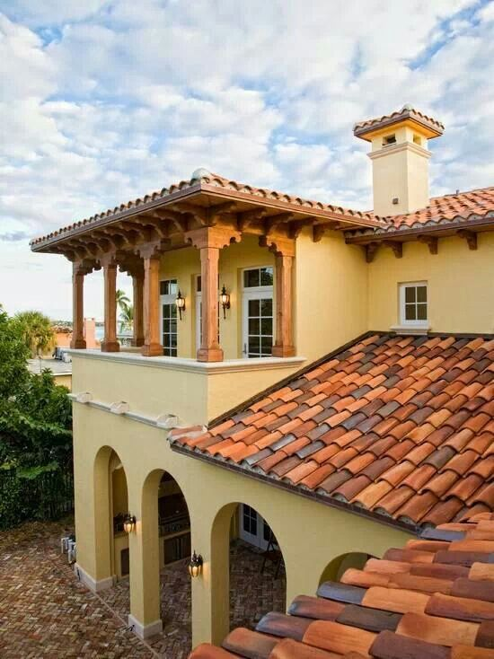 25 best ideas about mexican style homes on pinterest for Spanish style roof tiles
