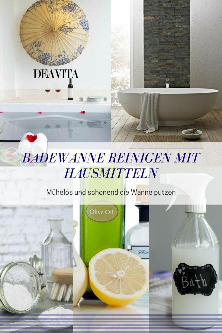 Diese Hausmittel Bringen Die Badewanne Auf Schonende Art Zum Glanzen Badewanne Reinigen Badewanne Wanne