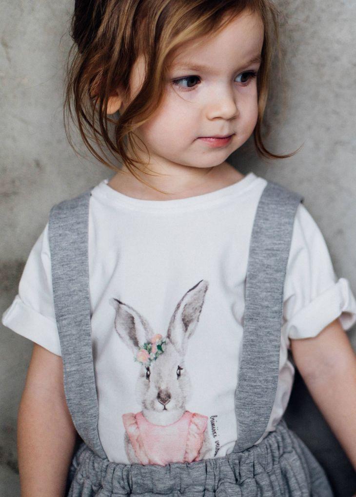 Bunny Print Tee | TinyBunnyKids on Etsy