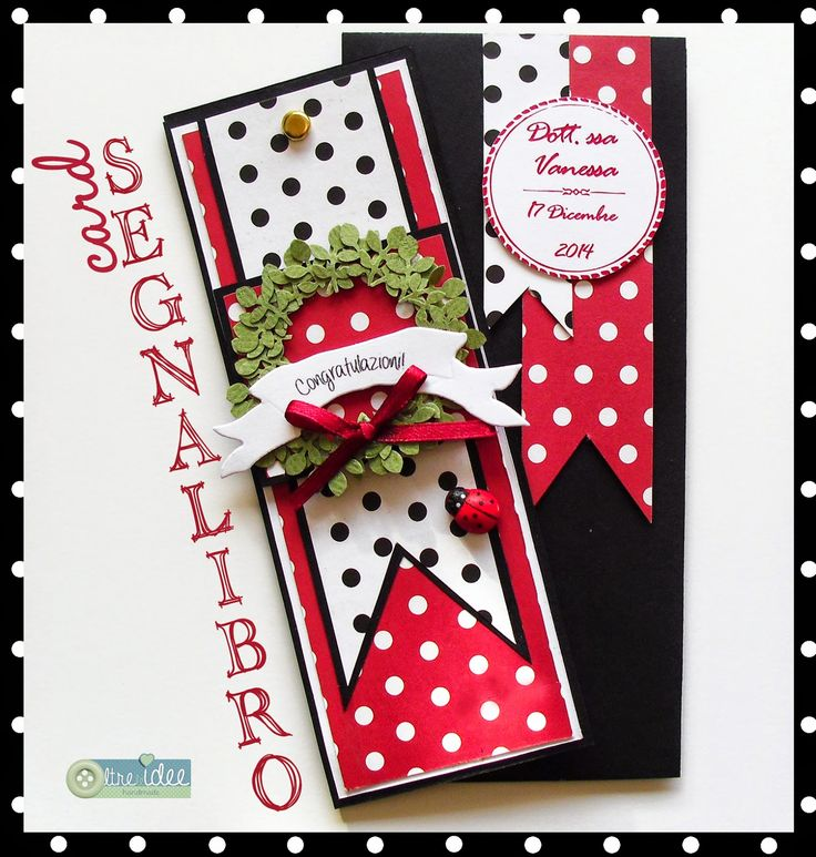 Card segnalibro per una laurea/ graduation bookmark card - Oltre le idee