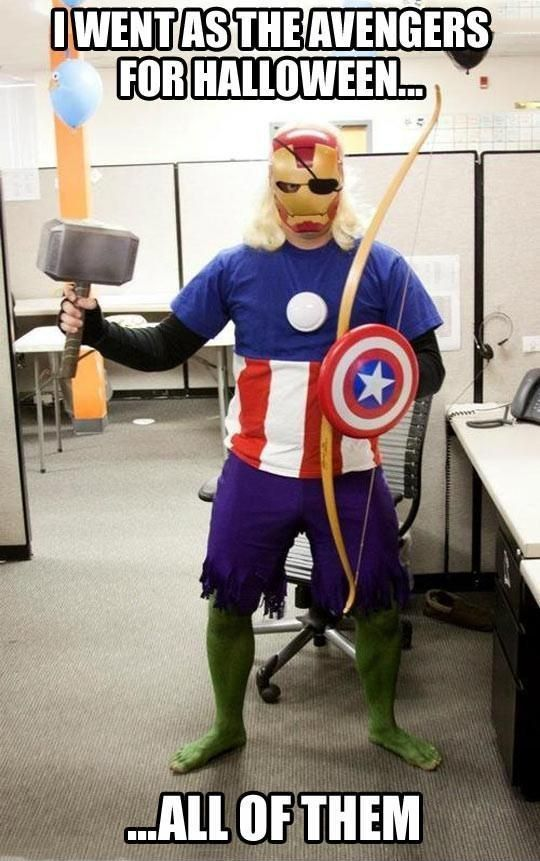 """""""I went as the Avengers for Halloween ... all of them."""""""
