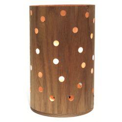 Lampe de table avec abat-jour en bois fin