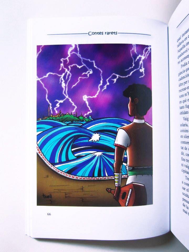 """Ilustración para el relato """"Físsil"""", de Sergi G. Oset, dentro del libro """"Contes rarets"""", compilación de historias de varios autores.  Abril 2013."""