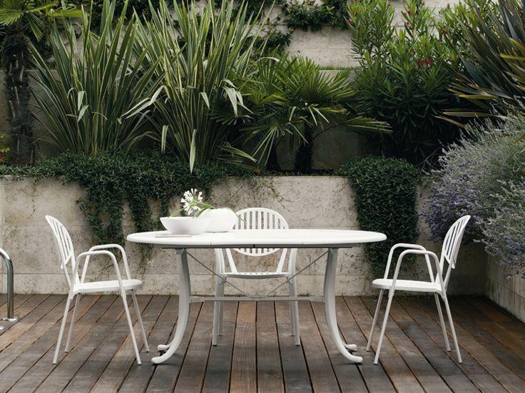 Die besten 25+ Gartentisch oval Ideen auf Pinterest Gartentisch - gartenmobel weis metall