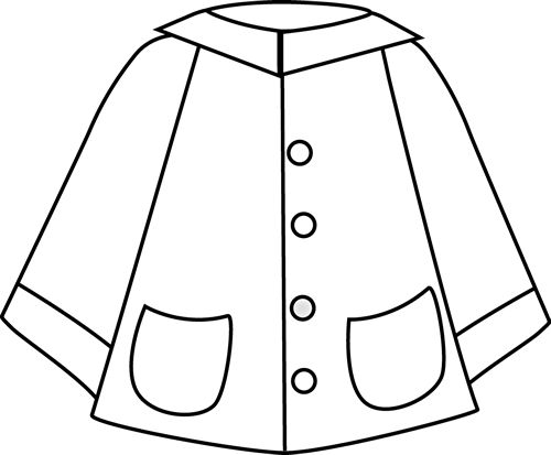 raincoat coloring pages for kids - photo#2
