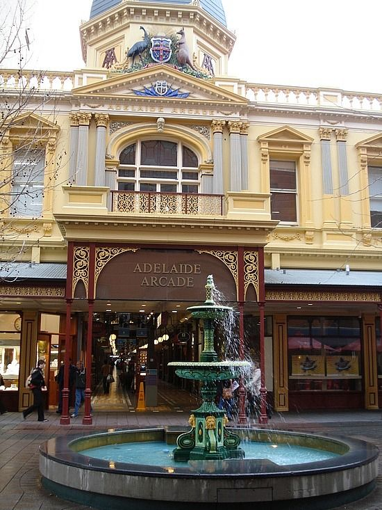Entrance to Adelaide Arcade