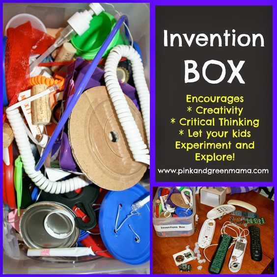 Inventions Box for Kids CREATE PLAY EXPLORE with Pink and Green Mama Blog: