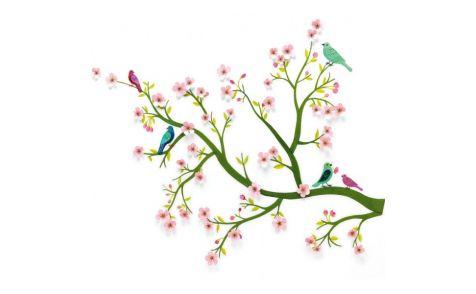 Muursticker kersenboom djeco decoratie kinderkamer 3d de boomhut baby kamer pinterest - Decoratie kamer ...