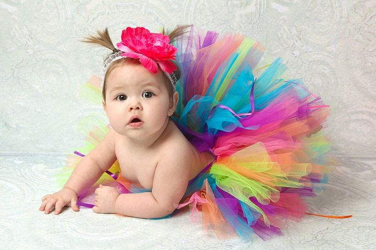 Rainbow Tutu Set for Girls sizes newborn baby through toddler 24months - includes Sewn tutu and matching headband. $25.00, via Etsy.