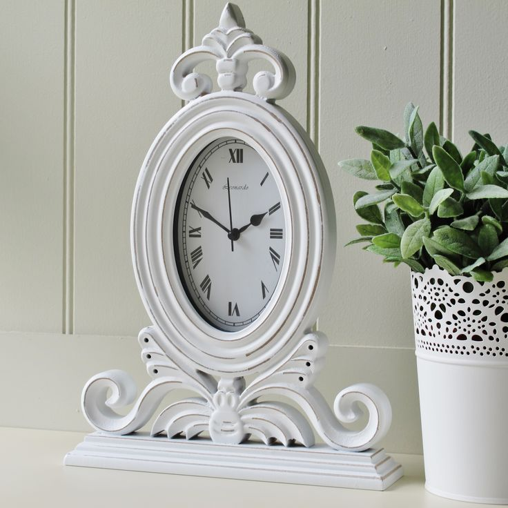 White Mantel Clock French Style, Very Shabby Chic From Blissandbloom.co.uk