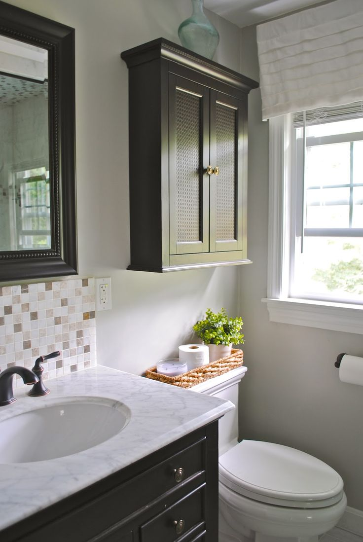 Bathroom cabinets over sink - Master Bathroom