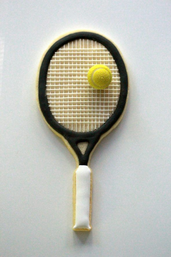 How to Decorate Tennis Racket Cookies | Sweetopia