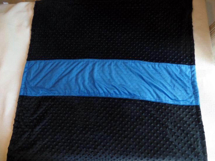 Personalized Thin Blue Line Minky Blanket, Police/Law Enforcement Blanket, Children's Blanket by LovingOurHeroes on Etsy https://www.etsy.com/listing/209041923/personalized-thin-blue-line-minky