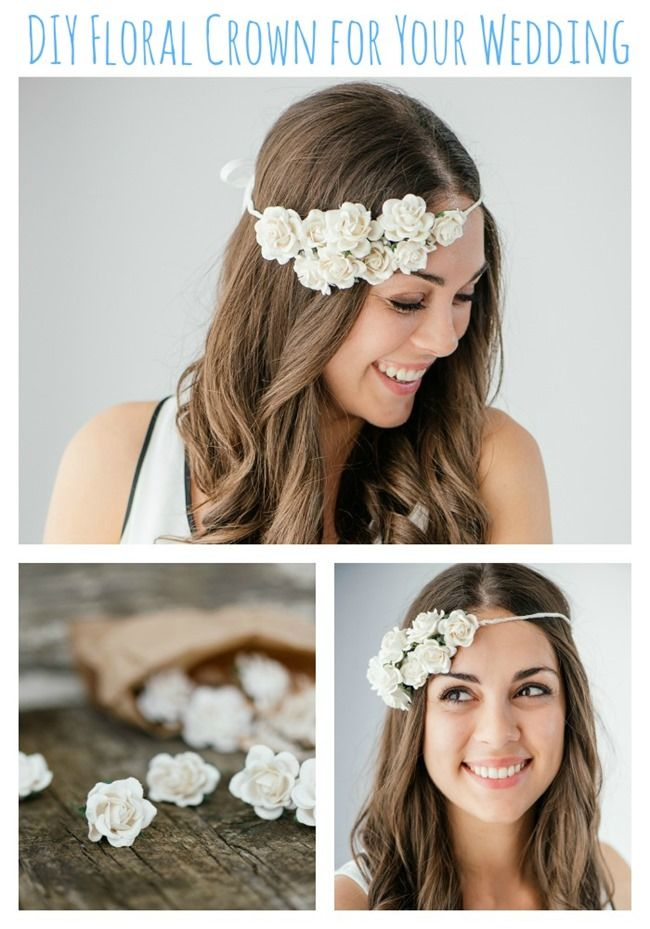 Easy DIY Floral Crown for Your Wedding {Guest Post by The Pretty Blog}