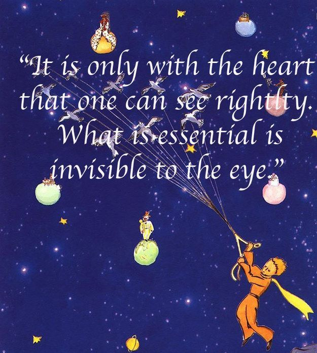 quote from the little prince about the heart - AOL Image Search Results