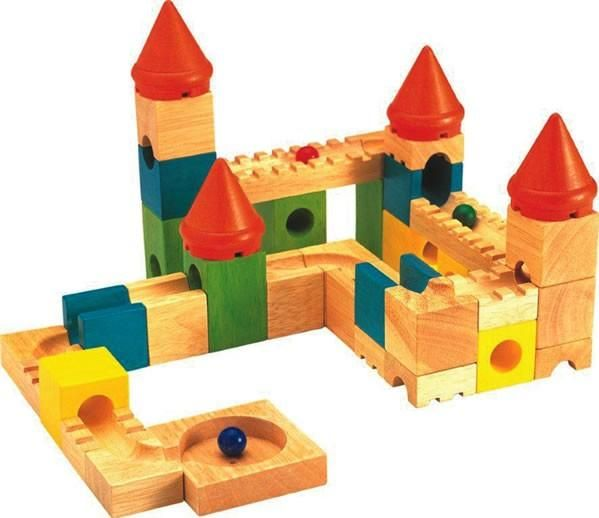 Buy Colourful Castle At Bebabo European Toys For Only 59 90 Fun Activities For Toddlers Marble Run Wooden Marble Run
