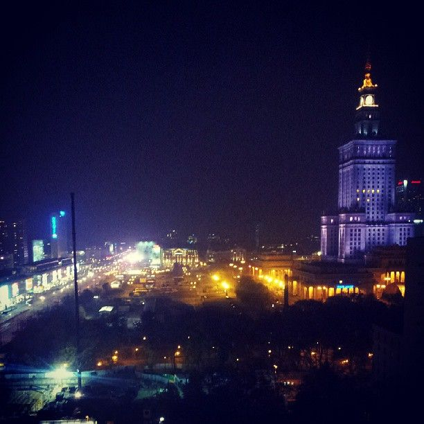 Warsaw by night// follow me on http://instagram.com/agacior89