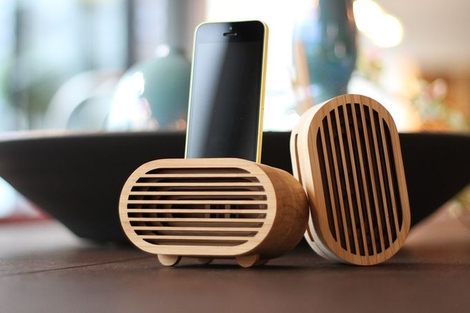 Amplio: Bamboo iPhone amplifier inspired by retro Radios by Vlad Butucariu — Kickstarter