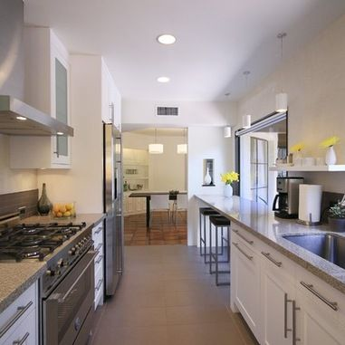 71 best images about galley kitchen inspiration on pinterest taj mahal cabinets and countertops - Closed kitchen design ...