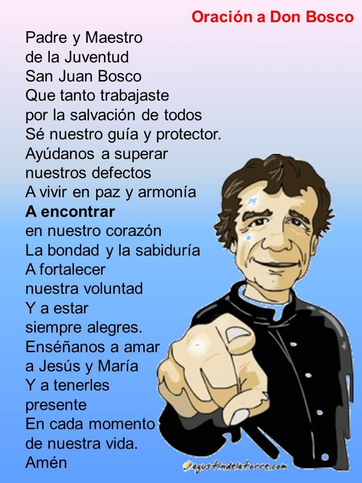 Oración a Don Bosco - Pastoral Infantil Primaria