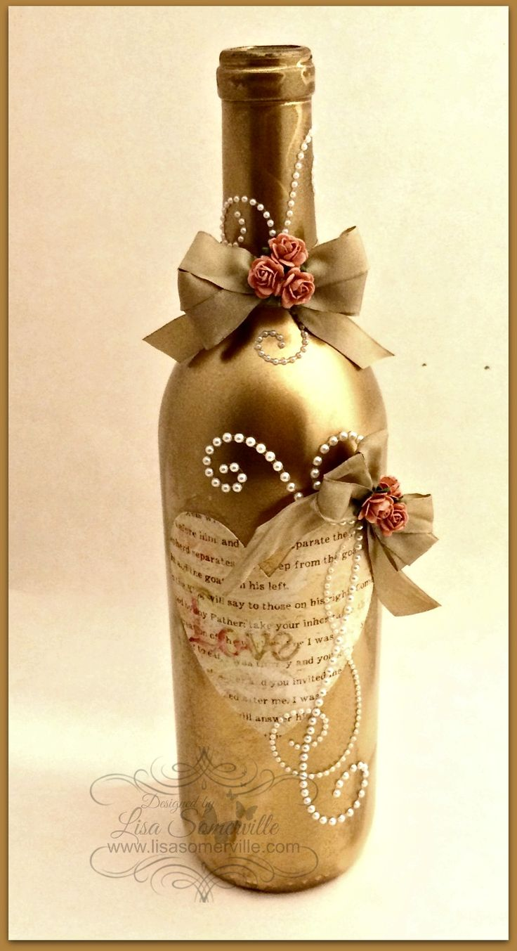 Designs by Lisa Somerville: Altered Wine Bottle