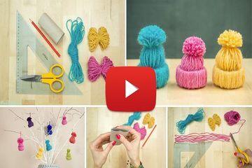Une video pour une réalisation simple, avec des chutes de laines et des rouleaux de papier toilette. ...