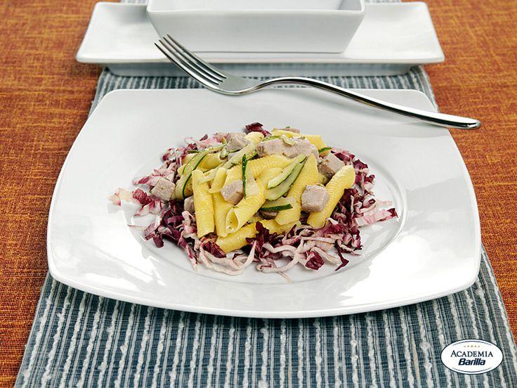 Garganelli con tonno fresco e zucchine al profumo di rosmarino