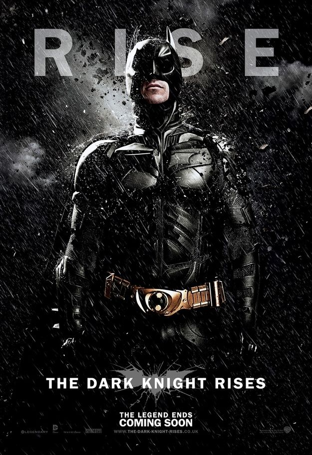 New Batman movie poster for The Dark Knight Rises. Christopher Nolan