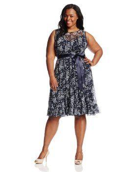 Jessica Howard Women's Plus-Size Sleeveless Dress