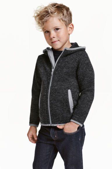 Gebreide fleece hoodie | H&M