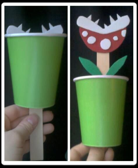 Super Mario Birthday: Piranha Plant Toy Craft activity - 10 count. $40.00, via Etsy.