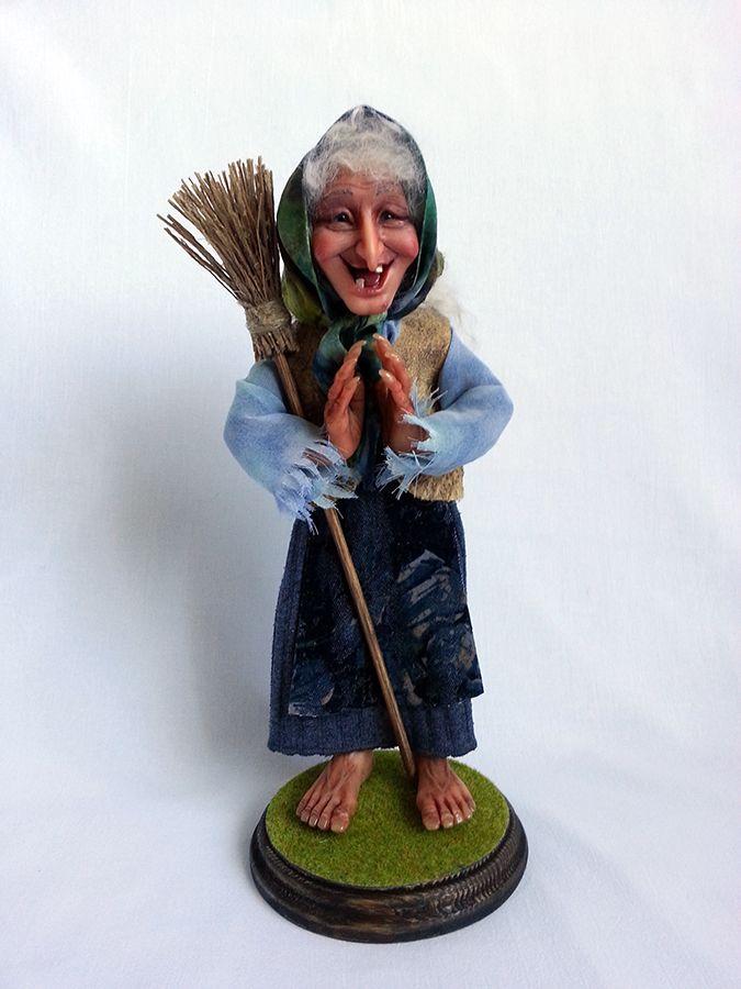 """""""Старушка-Веселушка"""", prosculpt 28 см  dolls by Zoya Brilliantova"""