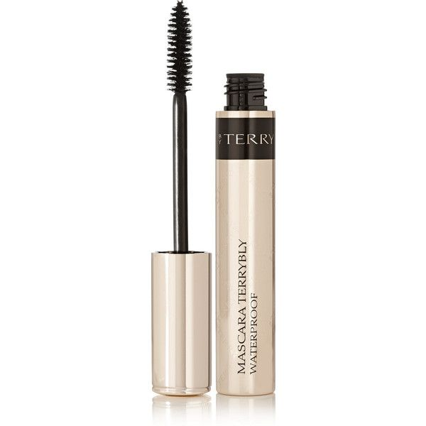 By Terry Mascara Terrybly Waterproof - 1 Black (865 MXN) ❤ liked on Polyvore featuring beauty products, makeup, eye makeup, mascara, black, by terry, volumizing mascara, black eye makeup, voluminous mascara and waterproof mascara