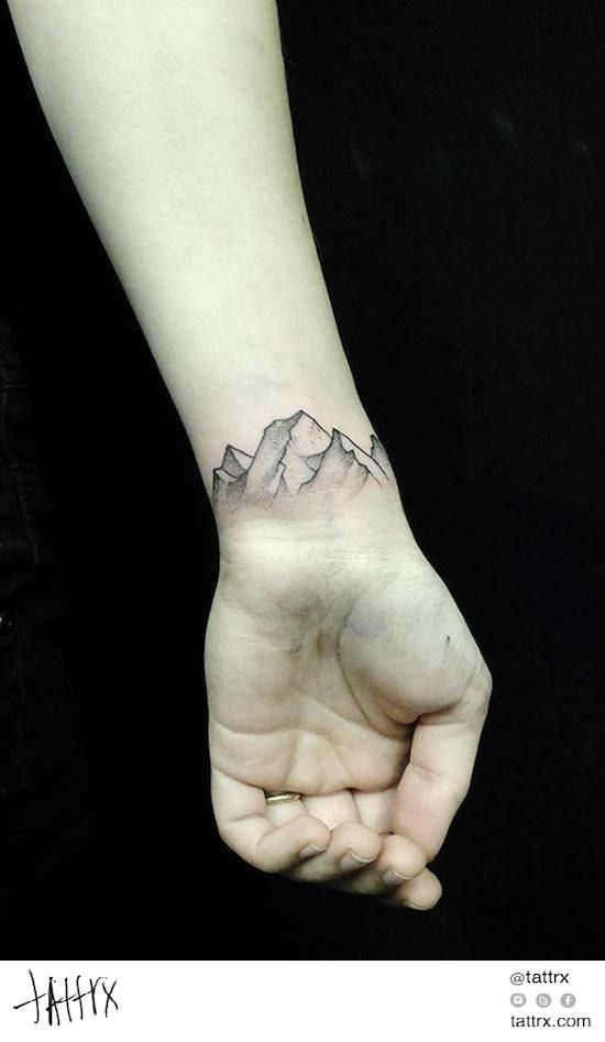 Mountain Tattoo!! Wonder if you could do it closer to a Blue Ridge Mountain style