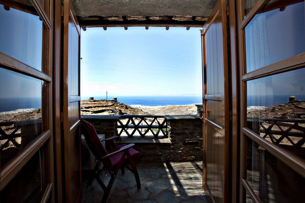 Gaze the #Aegean sea from your balcony in the #vacation Yellow House in Tinos http://www.tinos-habitart.gr/yellow-house.php