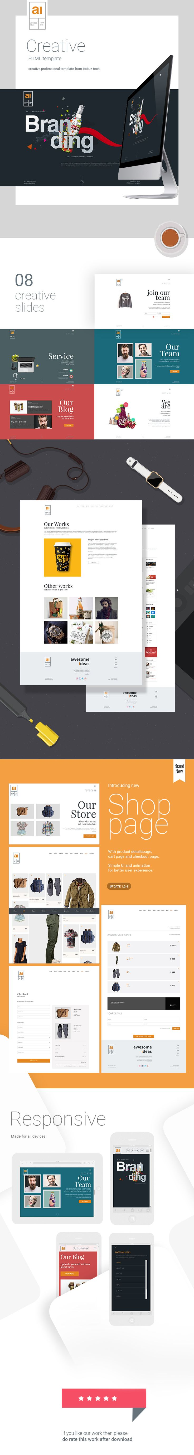 Awesome Ideas | Professional HTML Theme #multipurpose #one page #photography