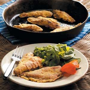 Southwestern Fried Perch Recipe -This is one of my favorite ways to prepare perch. Taco seasoning and cornmeal make the coating zesty and unique.
