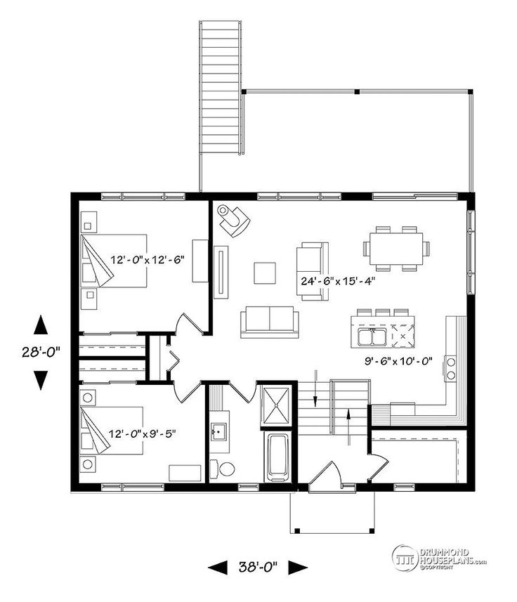 House plan W3991 detail from DrummondHousePlans.com