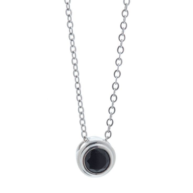 Sydney Necklace $145 Black Onyx & Sterling Silver www.toriandtaz.com