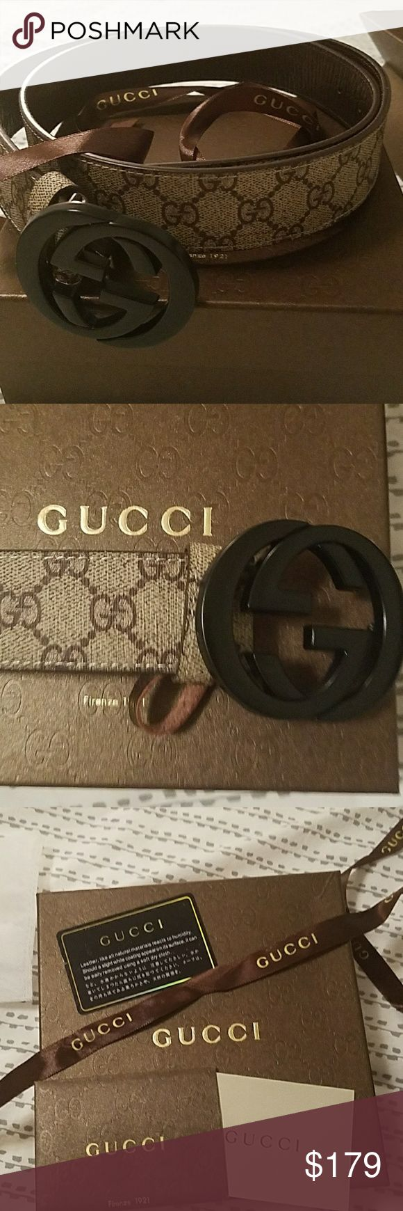 Brand new Gucci belt Brand new Gucci belt still in the box with Gucci bag and papers Gucci Accessories Belts