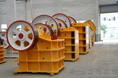 Characteristics of Jaw Crusher: High crushing ratio, homogeneous final granularity size, simple structure, reliable working condition, easy maintenance, low operating cost and so on. http://www.bailingmachinery.com/products/crusher/14.html