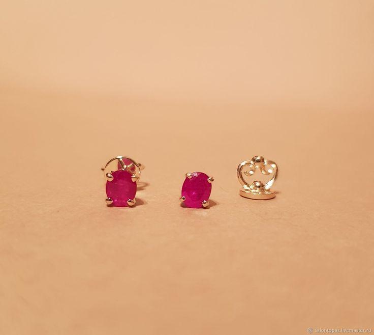 Золотые серьги с рубинами - Олег (Topaz - ювелирная галерея) - Ярмарка Мастеров http://www.livemaster.ru/item/22719055-ukrasheniya-zolotye-sergi-s-rubinami