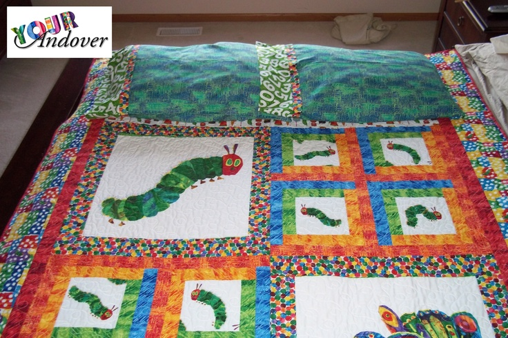 Marie McKay made this amazing quilt and matching pillow case set with The Very Hungry Caterpillar collection from The World of Eric Carle. Like/Repin this post to vote for Marie.