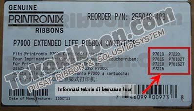 Ribbon Printronix P7010, Ribbon Printronix P7015, Ribbon Printronix P7210, Ribbon Printronix P7215, Ribbon Printronix P7220, Ribbon Printronix P7010ZT & Ribbon Printronix P7015ZT menggunakan ribbon printronix P7000 LONG LIFE reorder P/N.255048-103 dan 255048-403