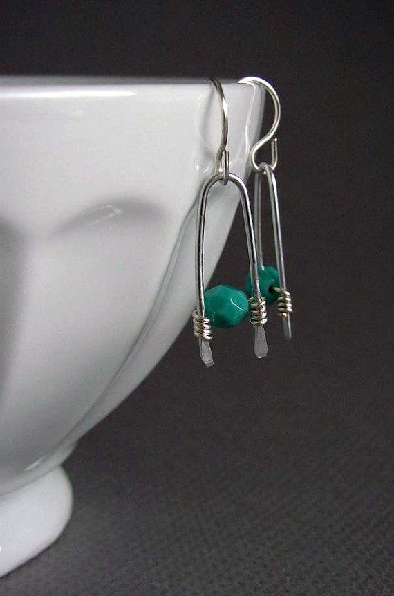 Wire Wrapped Earrings Beaded