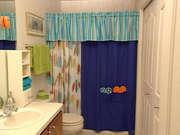 Surf-Inspired Bathroom/Laundry