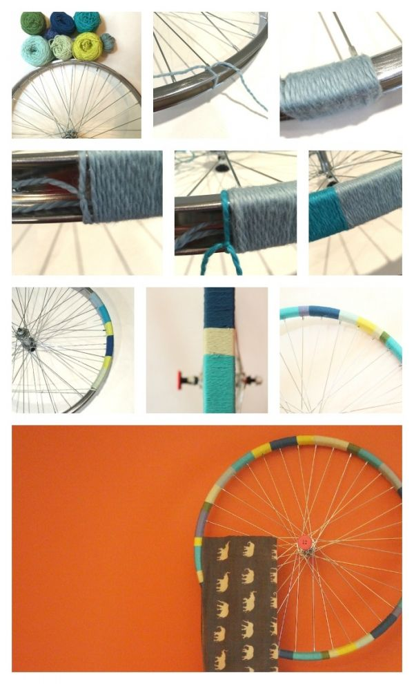 Upcycle an old bicycle wheel into unexpected and creative home décor. 10 DIY ideas to try.